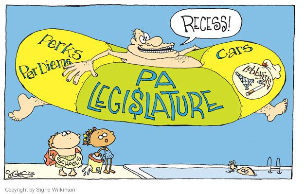 Cartoonist Signe Wilkinson  Signe Wilkinson's Editorial Cartoons 2014-07-10 political lobby