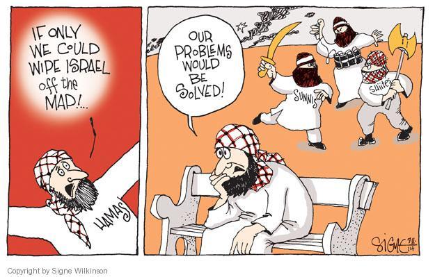 Signe Wilkinson  Signe Wilkinson's Editorial Cartoons 2014-07-11 Israel