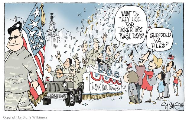 Cartoonist Signe Wilkinson  Signe Wilkinson's Editorial Cartoons 2014-07-17 armed forces