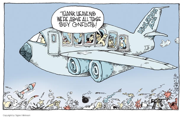 Signe Wilkinson  Signe Wilkinson's Editorial Cartoons 2014-07-20 aircraft