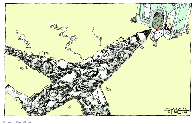 Cartoonist Signe Wilkinson  Signe Wilkinson's Editorial Cartoons 2014-07-21 Russia Ukraine
