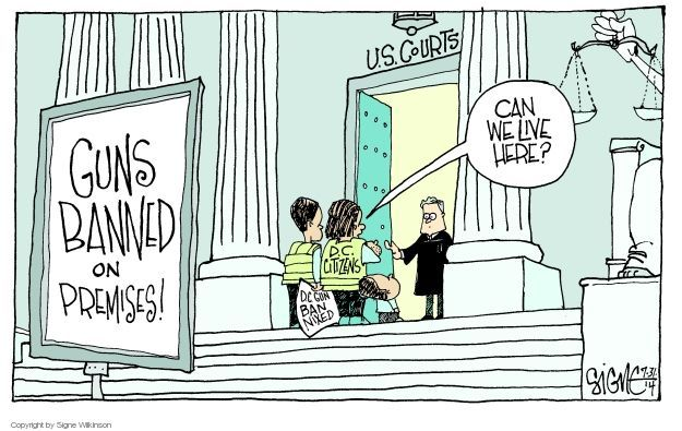 Signe Wilkinson  Signe Wilkinson's Editorial Cartoons 2014-07-31 weaponry