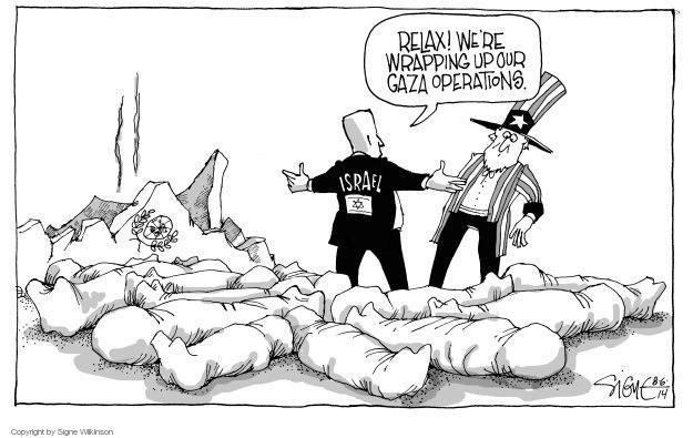 Signe Wilkinson  Signe Wilkinson's Editorial Cartoons 2014-08-06 Israel