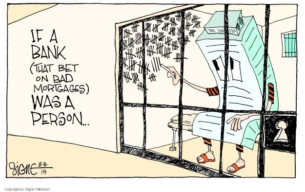 Cartoonist Signe Wilkinson  Signe Wilkinson's Editorial Cartoons 2014-08-08 finance