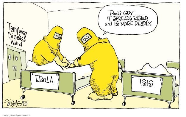 Signe Wilkinson  Signe Wilkinson's Editorial Cartoons 2014-08-11 infection