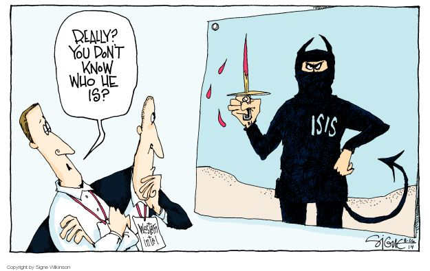 Cartoonist Signe Wilkinson  Signe Wilkinson's Editorial Cartoons 2014-08-26 Iraq