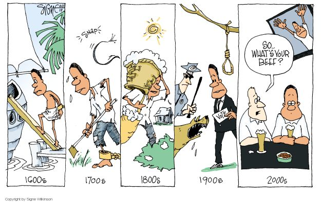 Signe Wilkinson  Signe Wilkinson's Editorial Cartoons 2014-08-27 18th Century
