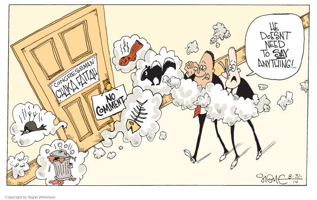 Signe Wilkinson  Signe Wilkinson's Editorial Cartoons 2014-08-31 congressman