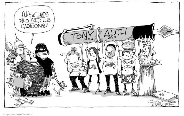 Signe Wilkinson  Signe Wilkinson's Editorial Cartoons 2014-09-16 obituary
