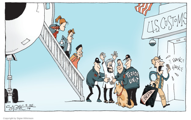 Signe Wilkinson  Signe Wilkinson's Editorial Cartoons 2014-09-25 infection