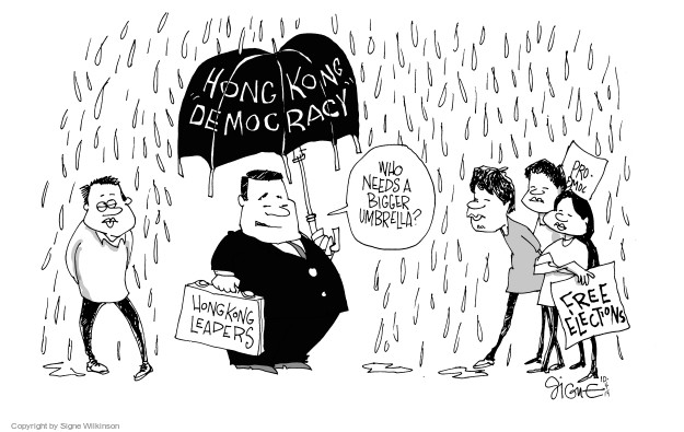 Signe Wilkinson  Signe Wilkinson's Editorial Cartoons 2014-10-04 political leader