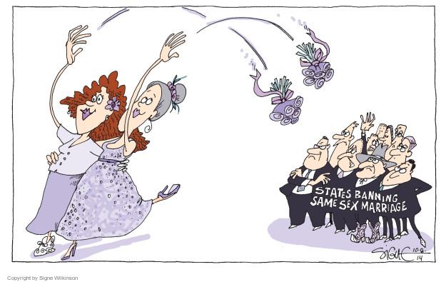 Cartoonist Signe Wilkinson  Signe Wilkinson's Editorial Cartoons 2014-10-08 homosexual