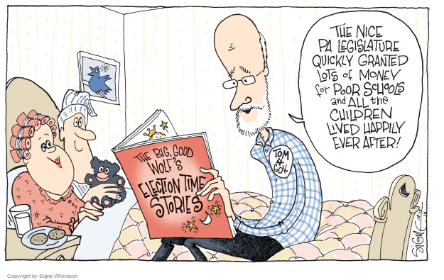 Cartoonist Signe Wilkinson  Signe Wilkinson's Editorial Cartoons 2014-10-14 gubernatorial