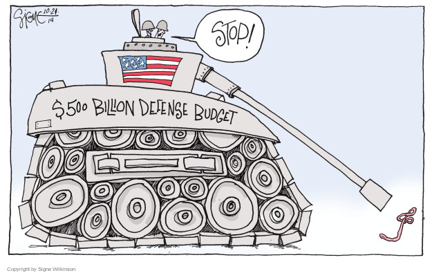 Cartoonist Signe Wilkinson  Signe Wilkinson's Editorial Cartoons 2014-10-21 strategy