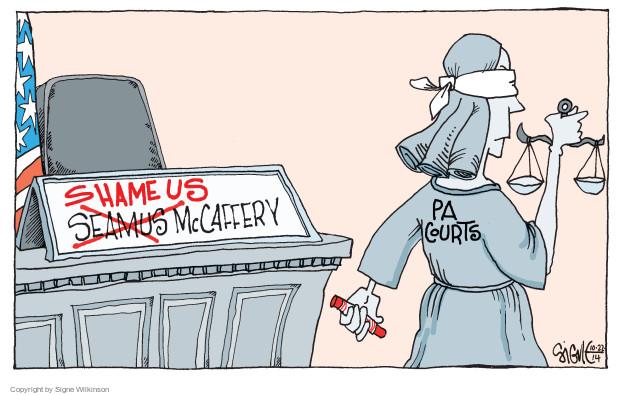 Cartoonist Signe Wilkinson  Signe Wilkinson's Editorial Cartoons 2014-10-22 political scandal