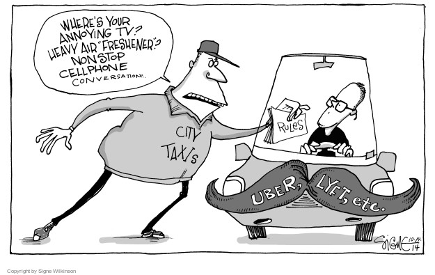 Cartoonist Signe Wilkinson  Signe Wilkinson's Editorial Cartoons 2014-10-27 city