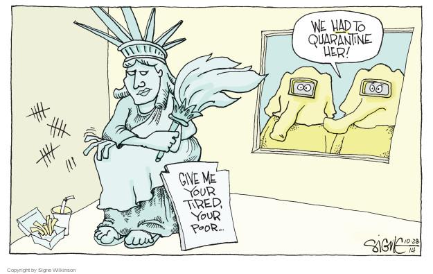 Signe Wilkinson  Signe Wilkinson's Editorial Cartoons 2014-10-28 immigration