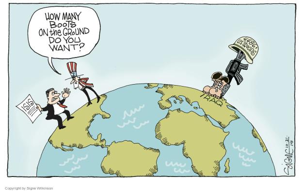 Cartoonist Signe Wilkinson  Signe Wilkinson's Editorial Cartoons 2014-10-31 Iraq war