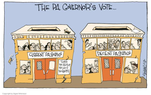 Cartoonist Signe Wilkinson  Signe Wilkinson's Editorial Cartoons 2014-11-04 gubernatorial