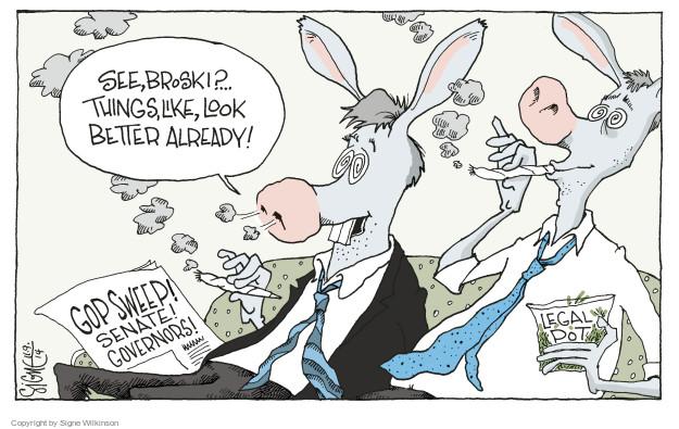 Signe Wilkinson  Signe Wilkinson's Editorial Cartoons 2014-11-09 liberal