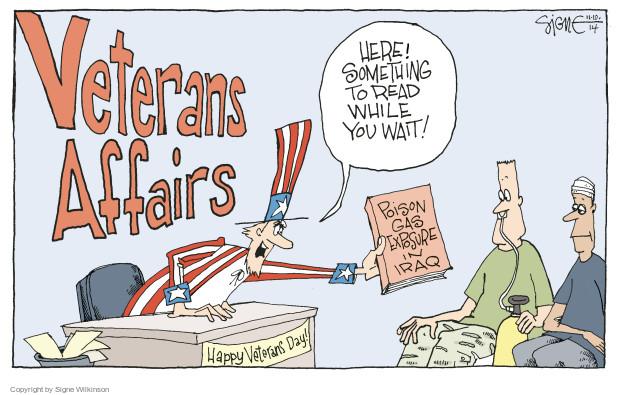 Signe Wilkinson  Signe Wilkinson's Editorial Cartoons 2014-11-10 warfare
