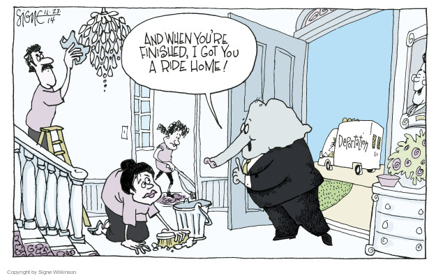Signe Wilkinson  Signe Wilkinson's Editorial Cartoons 2014-11-23 immigration bill