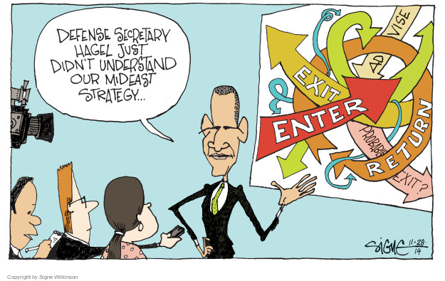 Cartoonist Signe Wilkinson  Signe Wilkinson's Editorial Cartoons 2014-11-28 strategy