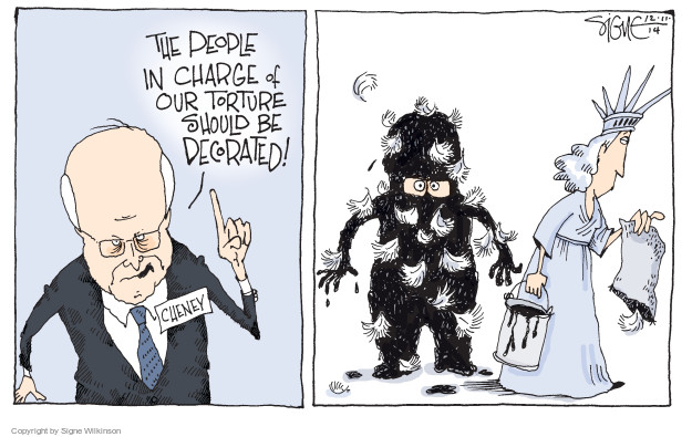 Signe Wilkinson  Signe Wilkinson's Editorial Cartoons 2014-12-11 Bush Cheney