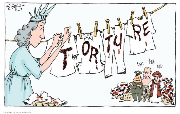 Cartoonist Signe Wilkinson  Signe Wilkinson's Editorial Cartoons 2014-12-14 CIA