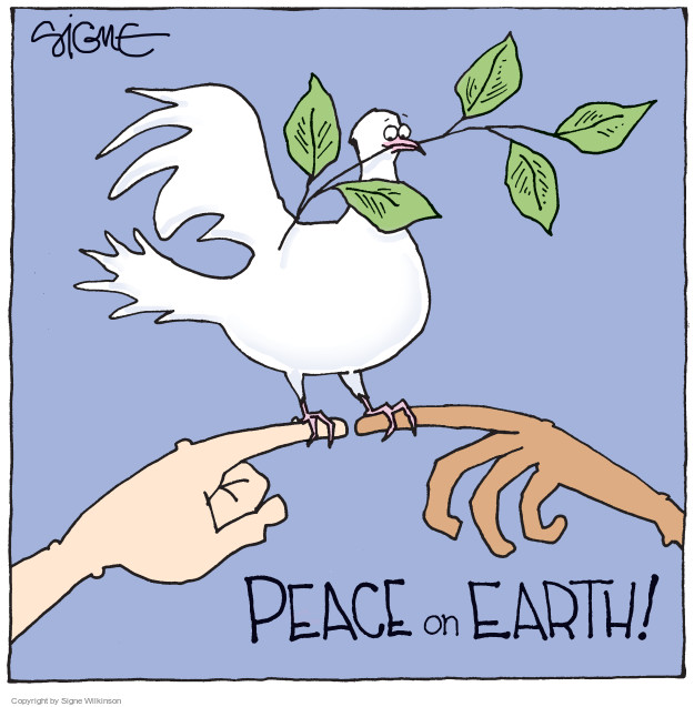 Cartoonist Signe Wilkinson  Signe Wilkinson's Editorial Cartoons 2014-12-24 support