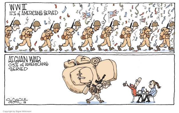 Cartoonist Signe Wilkinson  Signe Wilkinson's Editorial Cartoons 2015-01-04 armed forces