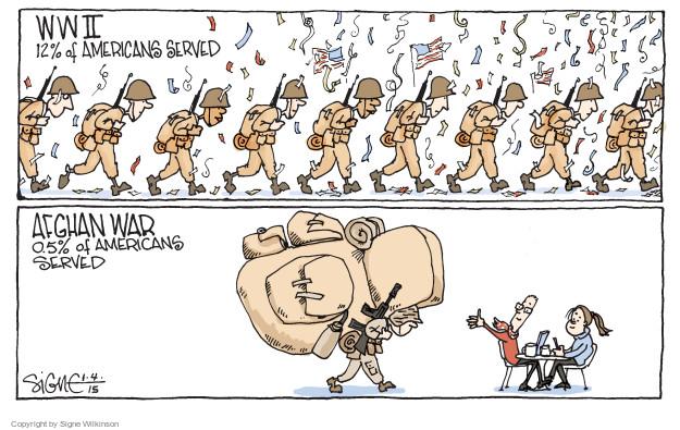 Signe Wilkinson  Signe Wilkinson's Editorial Cartoons 2015-01-04 warfare