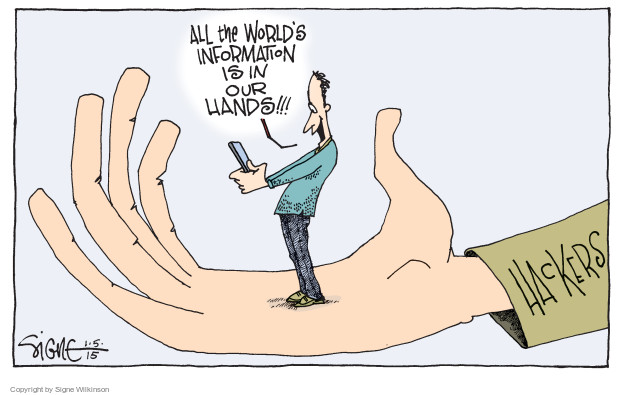 Signe Wilkinson  Signe Wilkinson's Editorial Cartoons 2015-01-05 online privacy
