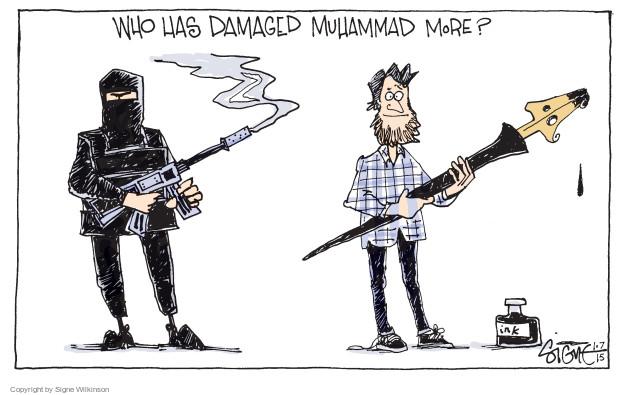 Signe Wilkinson  Signe Wilkinson's Editorial Cartoons 2015-01-08 freedom of speech
