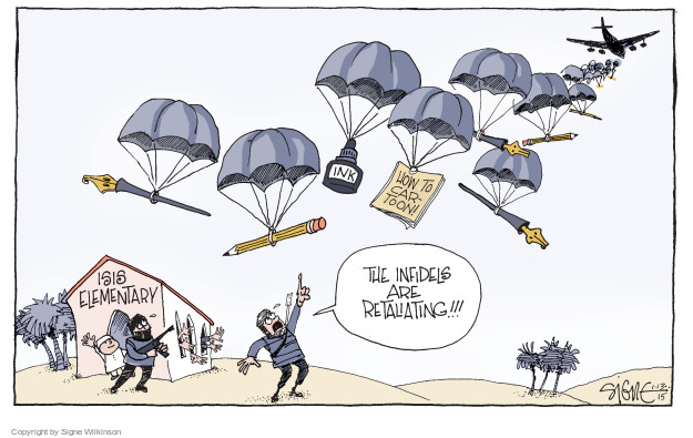 Signe Wilkinson  Signe Wilkinson's Editorial Cartoons 2015-01-13 press freedom