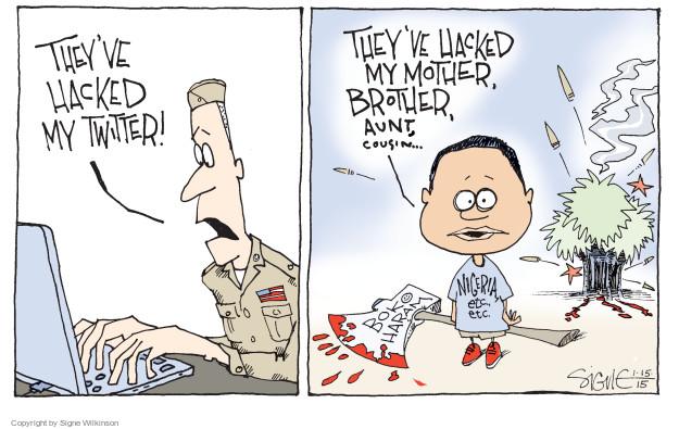 Cartoonist Signe Wilkinson  Signe Wilkinson's Editorial Cartoons 2015-01-15 cyber