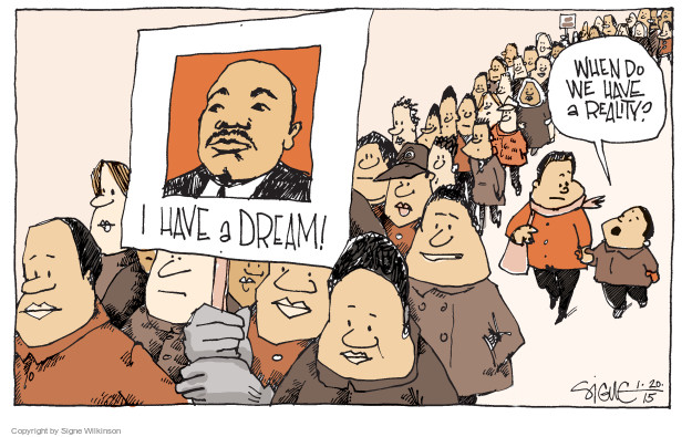 Signe Wilkinson  Signe Wilkinson's Editorial Cartoons 2015-01-20 Luther