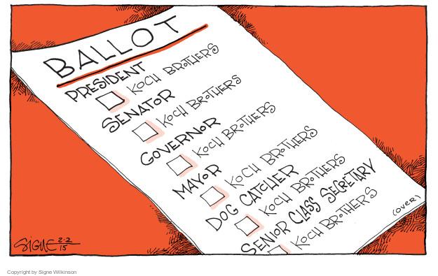 Signe Wilkinson  Signe Wilkinson's Editorial Cartoons 2015-02-02 ballot