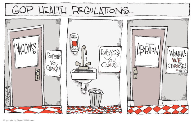 Cartoonist Signe Wilkinson  Signe Wilkinson's Editorial Cartoons 2015-02-11 vaccine