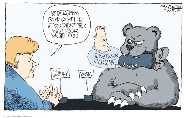 Cartoonist Signe Wilkinson  Signe Wilkinson's Editorial Cartoons 2015-02-12 Russia Ukraine