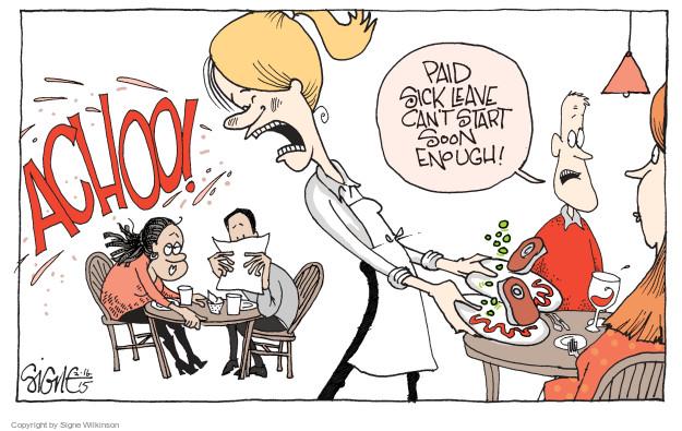 Cartoonist Signe Wilkinson  Signe Wilkinson's Editorial Cartoons 2015-02-16 benefit