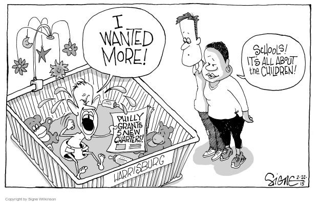 Cartoonist Signe Wilkinson  Signe Wilkinson's Editorial Cartoons 2015-02-22 education reform