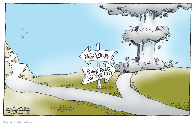 Signe Wilkinson  Signe Wilkinson's Editorial Cartoons 2015-03-04 United States and Israel