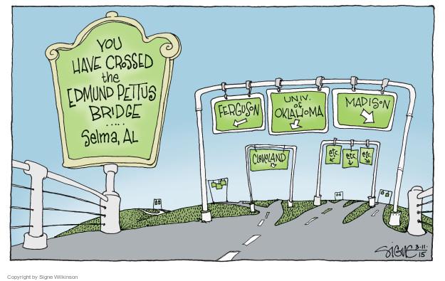Signe Wilkinson  Signe Wilkinson's Editorial Cartoons 2015-03-11 bridge