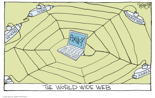 Signe Wilkinson  Signe Wilkinson's Editorial Cartoons 2015-03-16 internet privacy