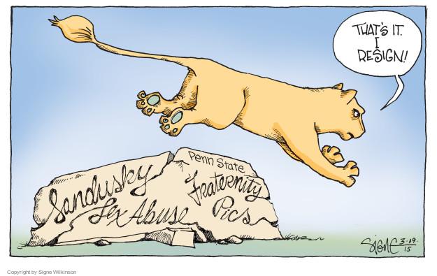 Cartoonist Signe Wilkinson  Signe Wilkinson's Editorial Cartoons 2015-03-19 political scandal