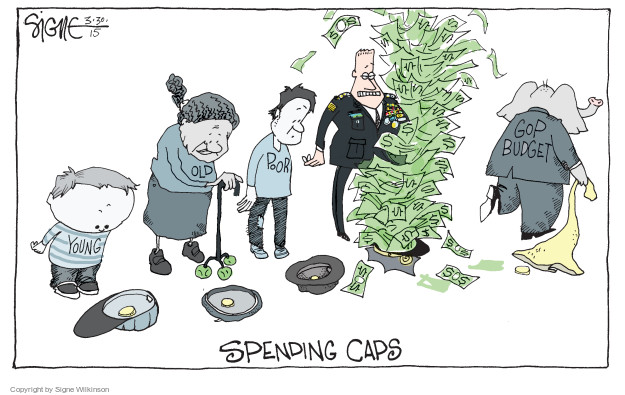 Signe Wilkinson  Signe Wilkinson's Editorial Cartoons 2015-03-30 federal budget