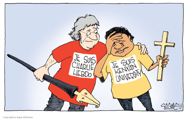 Cartoonist Signe Wilkinson  Signe Wilkinson's Editorial Cartoons 2015-04-05 university student