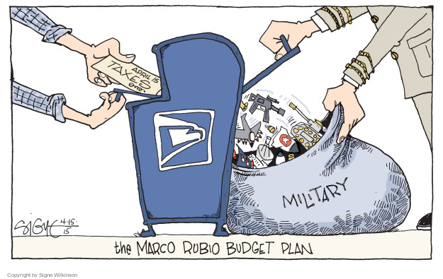 Signe Wilkinson  Signe Wilkinson's Editorial Cartoons 2015-04-15 federal budget