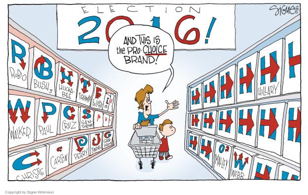 Signe Wilkinson  Signe Wilkinson's Editorial Cartoons 2015-04-17 2016 Election Hillary Clinton